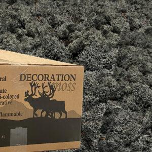 Antraciet mos rendiermos 3 kilo voor grote wanden