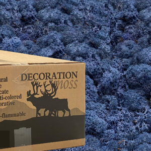 Royal Blue mos rendiermos 3 kilo voor grote wanden